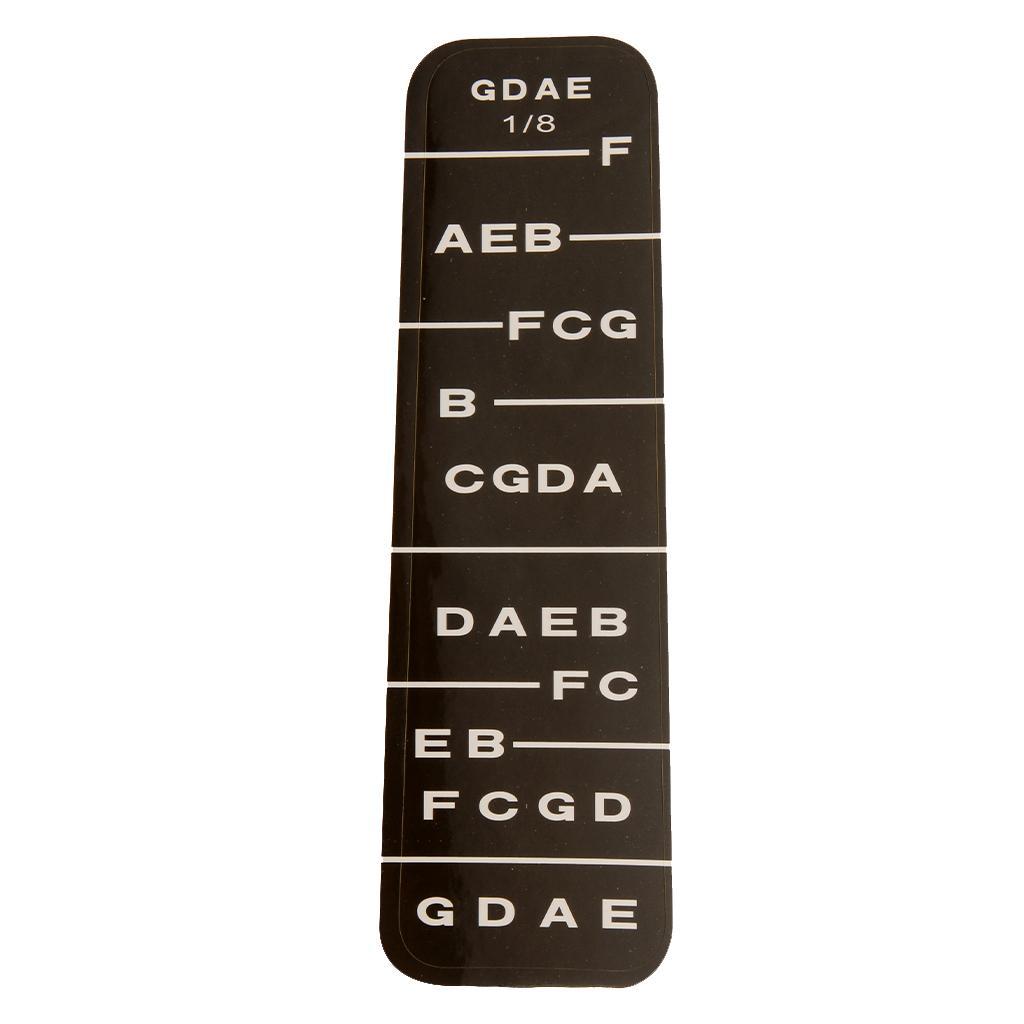 1 Violin Fiddle Fingerboard Stickers Fret Marker Labels Fingering Chart 1/8