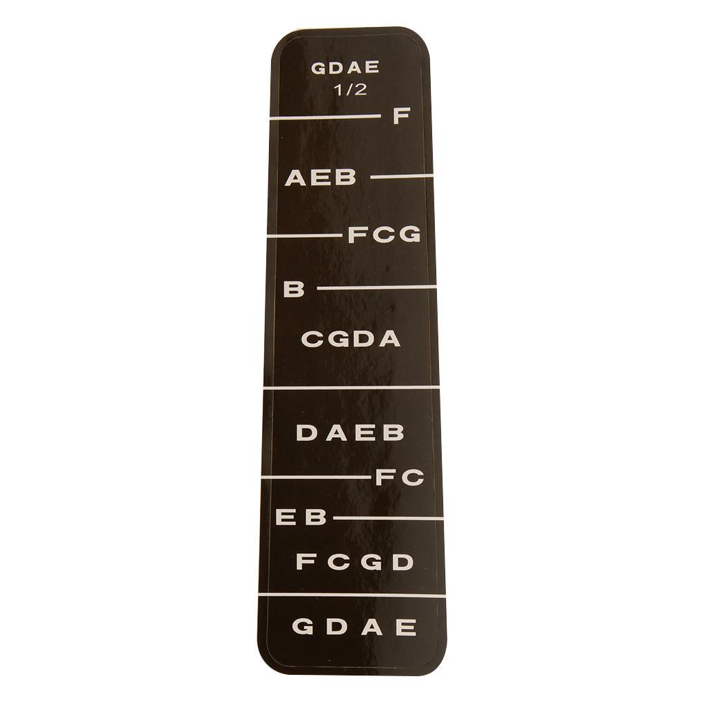 1 Violin Fiddle Fingerboard Stickers Fret Marker Labels Fingering Chart 1/2