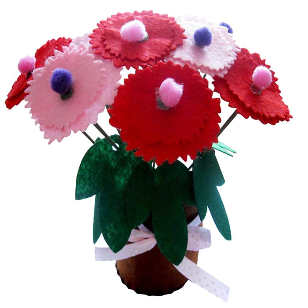 DIY Carnation Flower Pot Children Kids Handmade Educational Learn...
