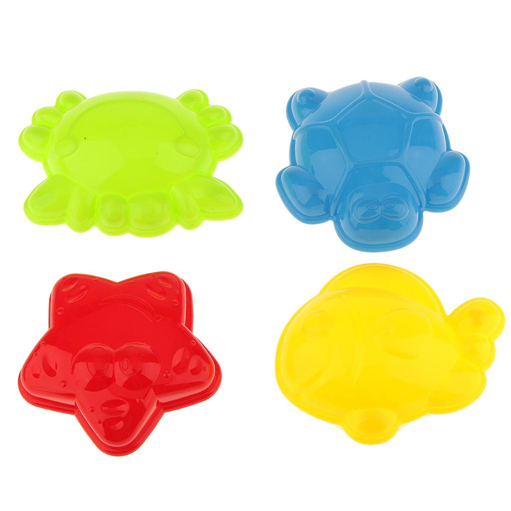 Set of 4 Sea Marine Animal Sand Clay Mold Beach Garden Toy Set Random Color