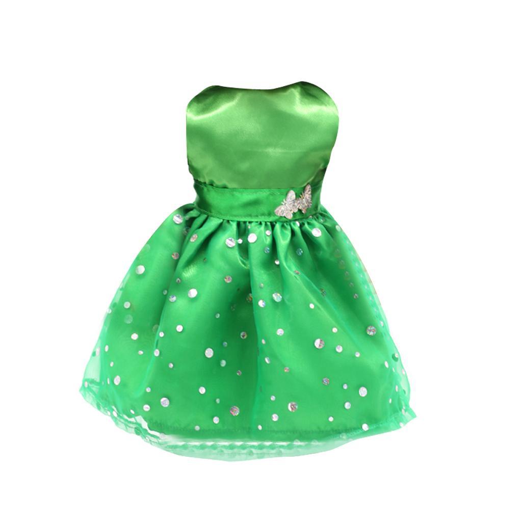 Green Sleeveless Dress For 18'' American Girl Dolls