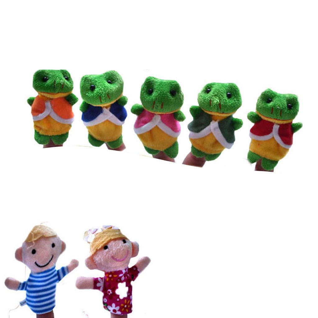 Set of 7pcs Finger Puppets - Five Little Speckled Frogs