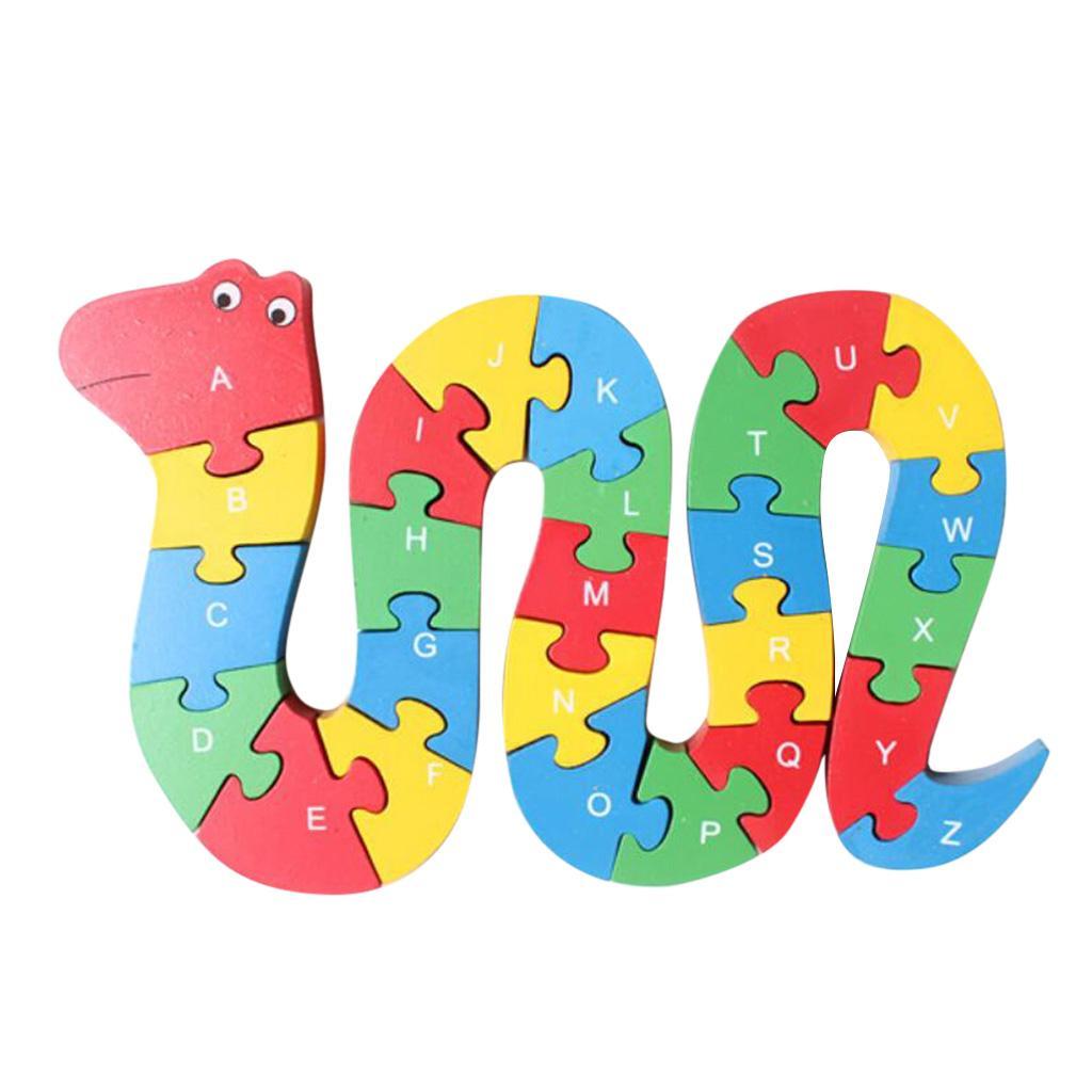 Alphabet Educational Toys : Alphabet letters numbers jigsaw puzzle educational toys