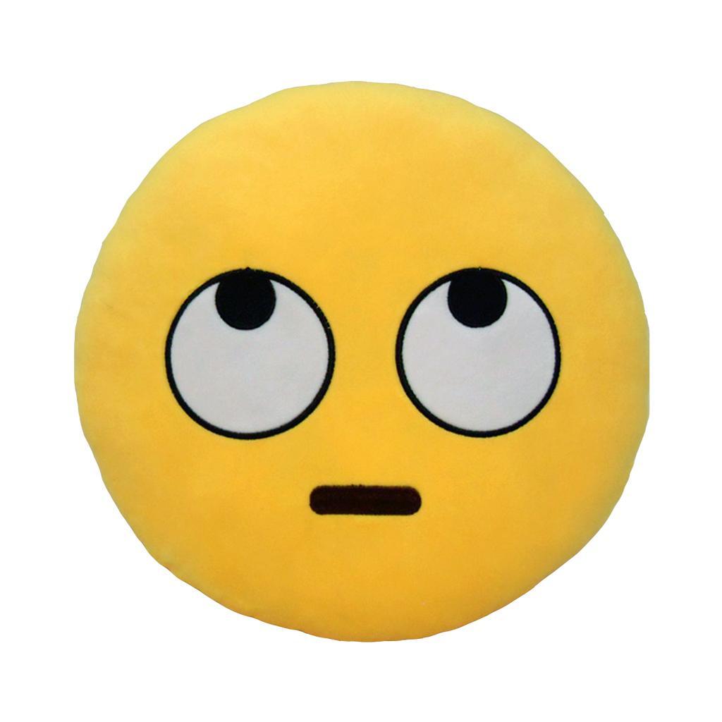 Emoji Emoticon Pillow Sofa Back Cushion Office Nap Bolster - Rolling Eyes