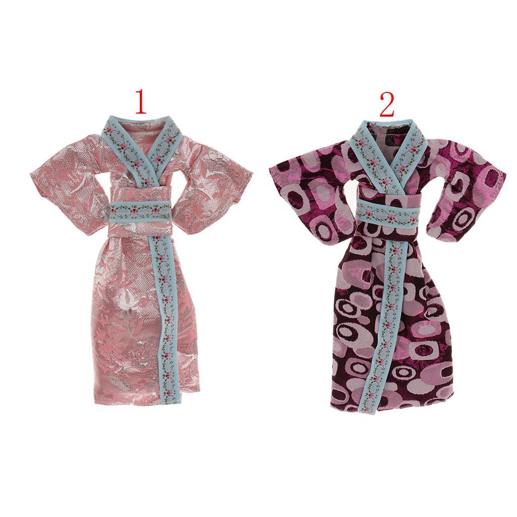 Purple Kimono Clothes for Barbie Dolls - Free Shipping