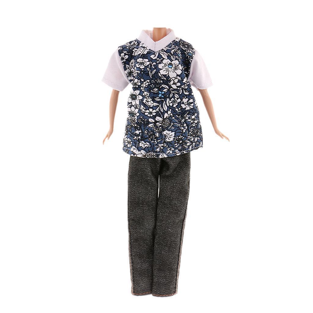 T-shirt & Pants Clothes Set Fit for Ken Dolls