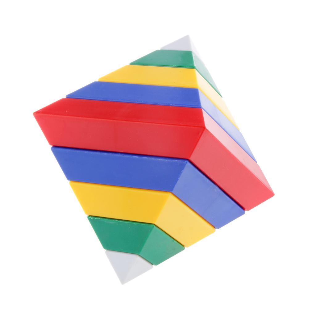 15Pcs Building Blocks Diamond Pyramid Shape Learn Children Play Toy Set Gift
