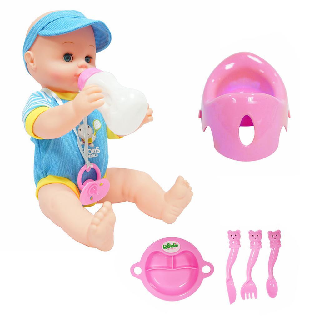 Realistic Silicone Baby Doll Vinyl Lifelike Baby Boy in Blue