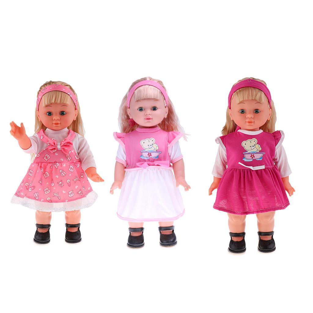 Realistic Baby Doll Vinyl Singing Walking Lifelike Baby Girl Gift