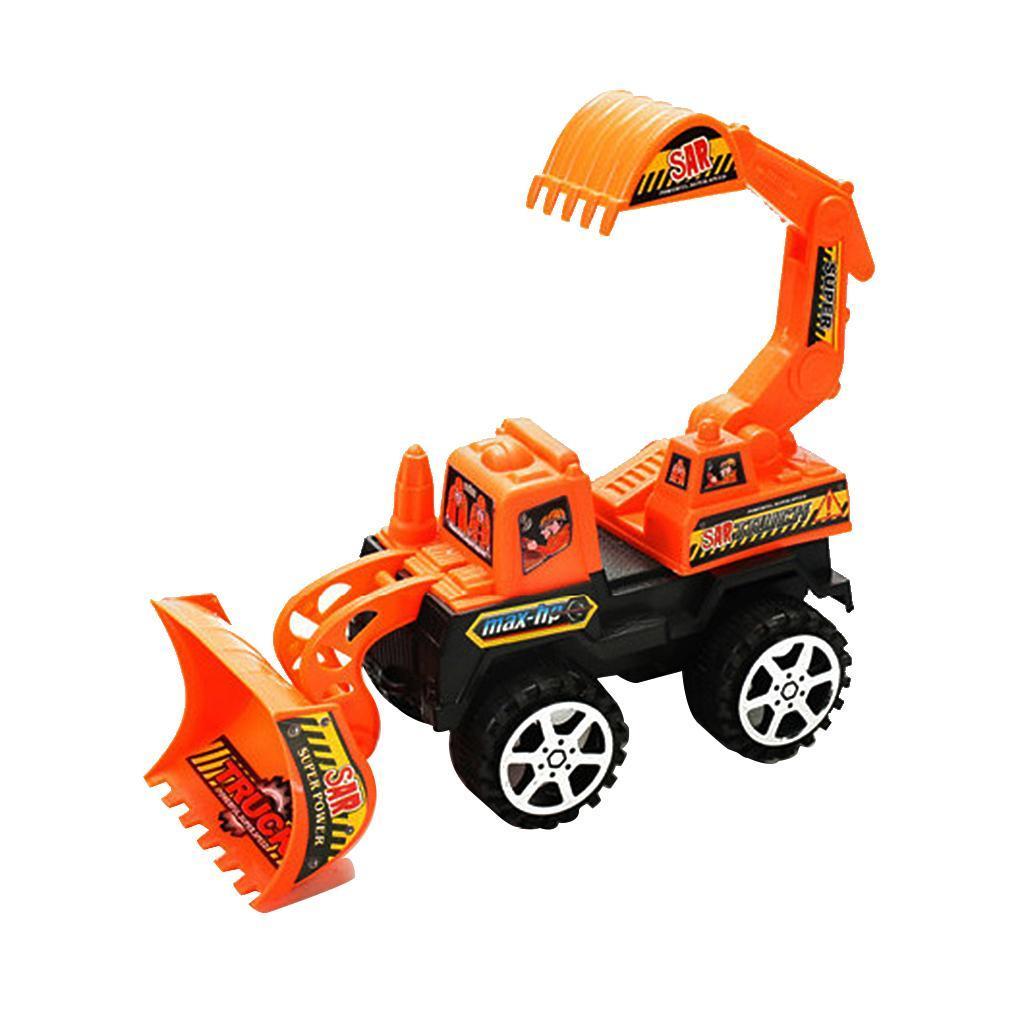 Plastic Mini Excavator Construction Tractor Vehicle Digging Truck Kid Toy