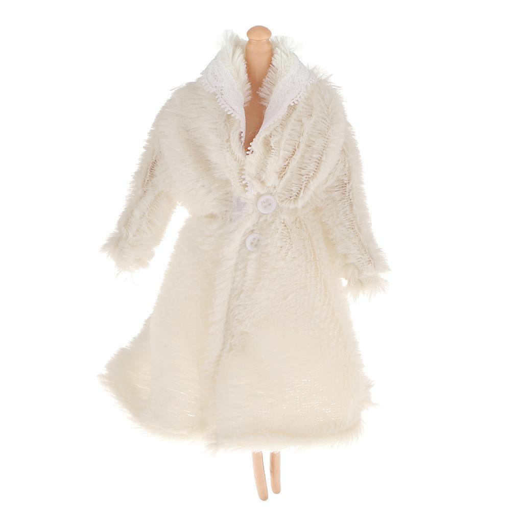 White Furry Coat for Barbie Dolls