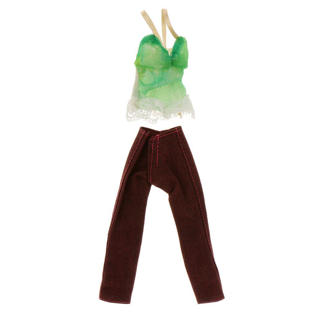 Top & Pants Clothes Set For Barbie Dolls