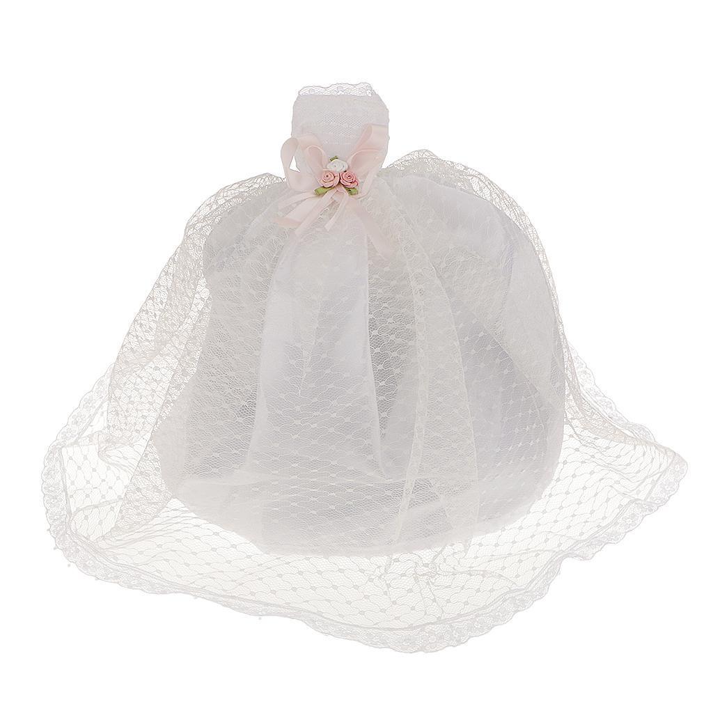 Fashion White Dot Wedding Gown Dress For Barbie Doll