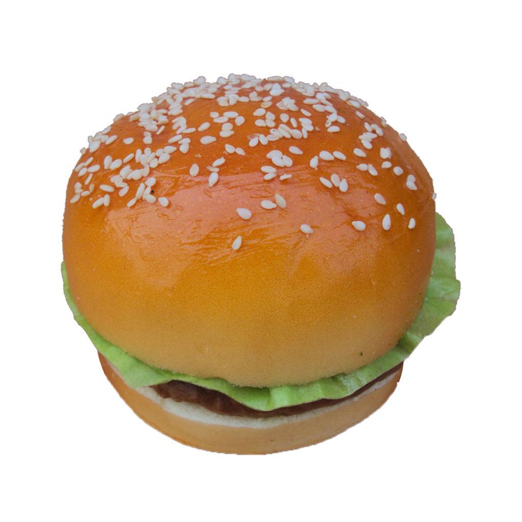 Artificial realistic hamburger bread food imitation for Artificial bread decoration