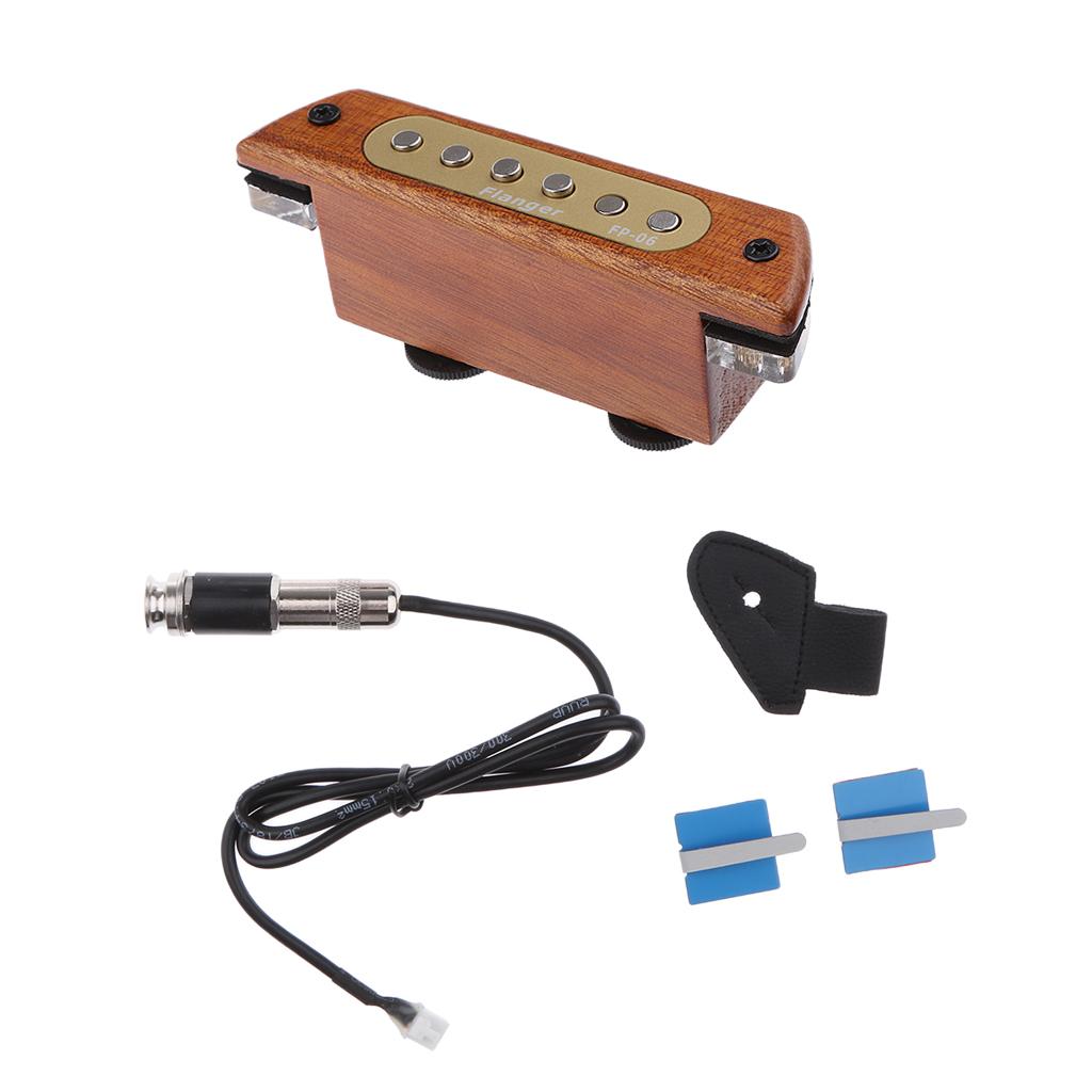 Sound Hole Magnetic Pickup Adjustable Tone Volume for Acoustic Gu...