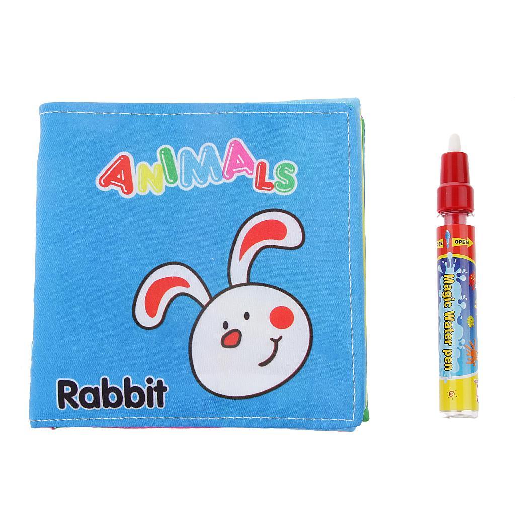 Colorful Cute Animal Cloth Book with Water Drawing Writing Mat Ki...