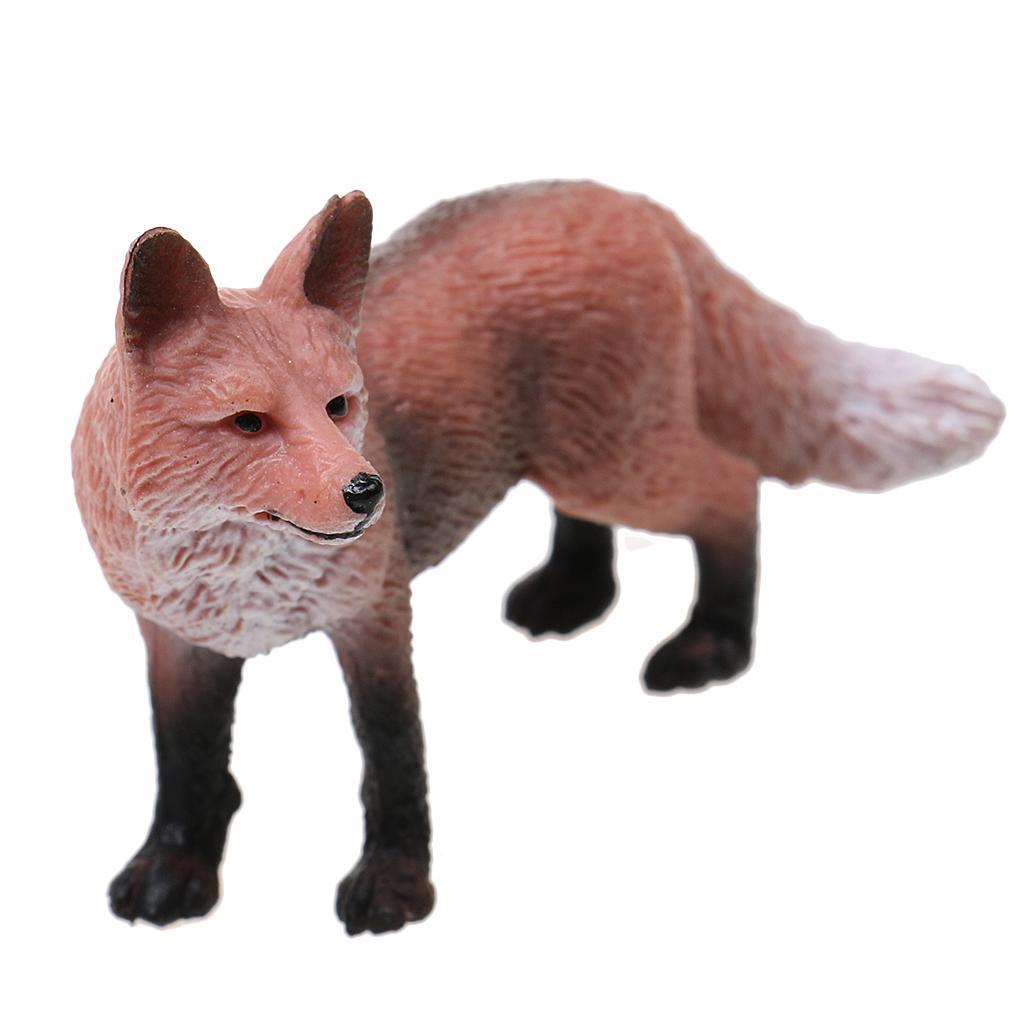 Realistic Red Fox Wildlife Animal Figurine Model Action Figure Kids Toy Gift
