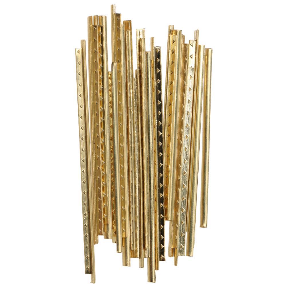 20Pcs Folk Acoustic Guitar Fret Wire Fretwire Set 2mm Golden Brass Quality
