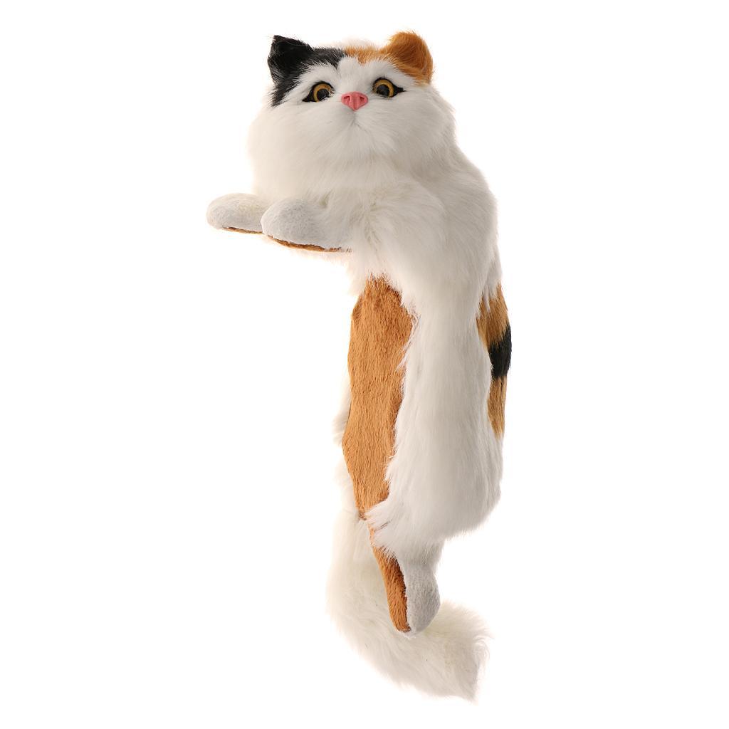 Hanging Naughty Cat Plush Soft Toy Furry Ornament Tortoiseshell Color 7