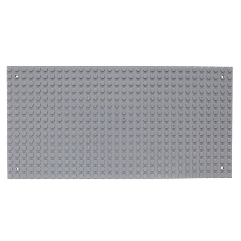 "Base Plate 32 x 16 9.92"" x 5"" Dot Building Block Light Grey"