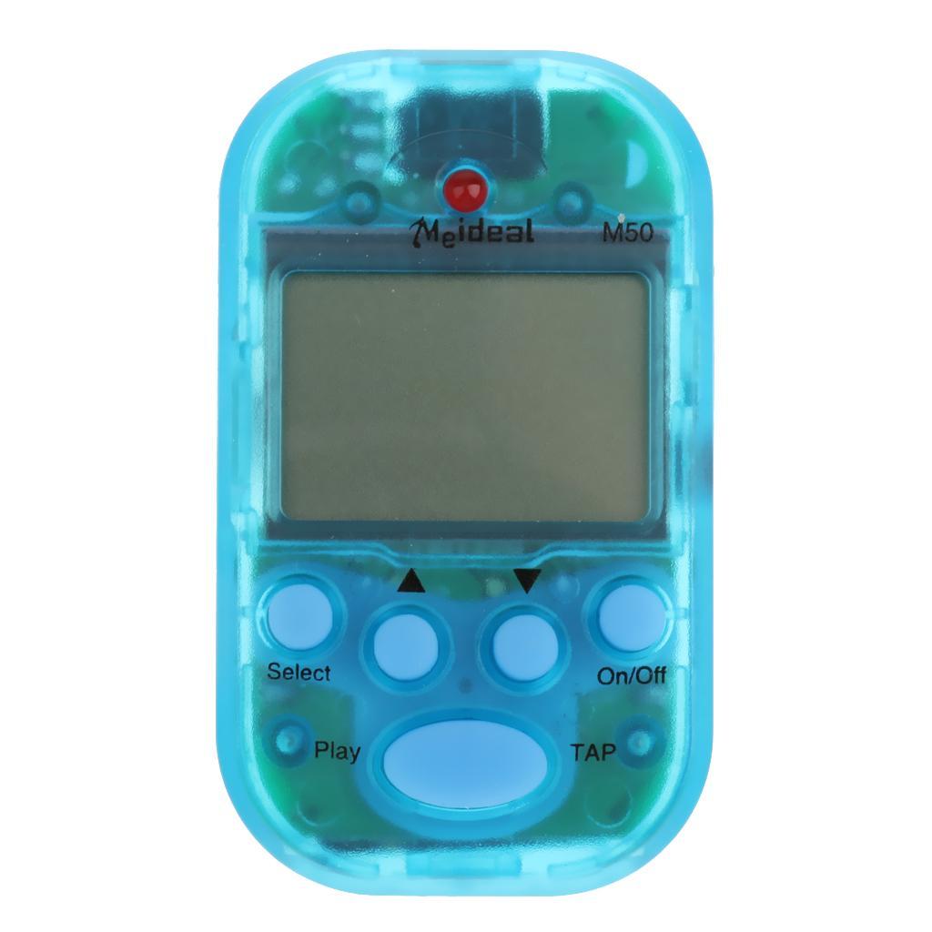 Portable Multi-functional Mini M50 Digital LCD Beat Tempo Metronome Blue