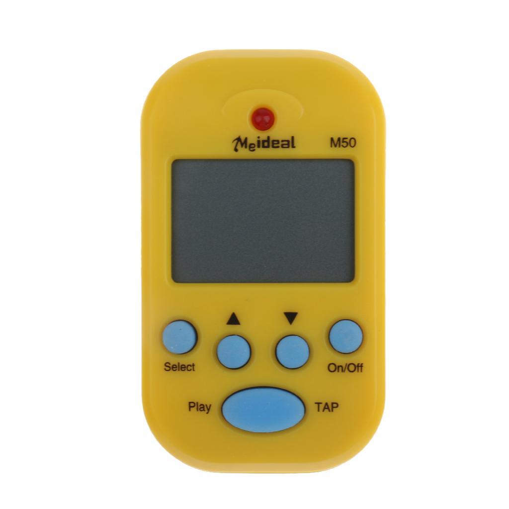 Portable Multi-functional Mini M50 Digital LCD Beat Tempo Metronome Yellow