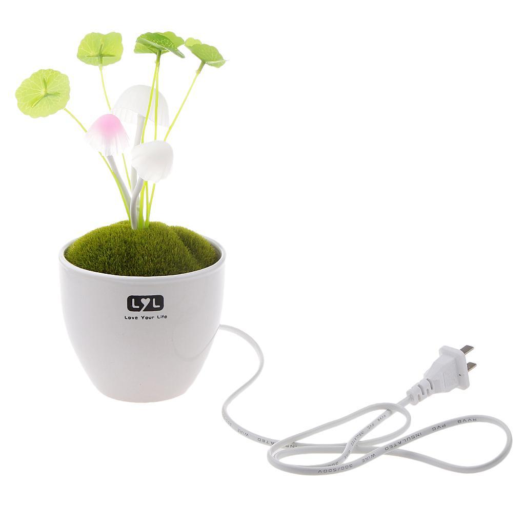 Ceramic Colorful Sensor LED Mushroom Night Light Bed Lamp Home Illumination