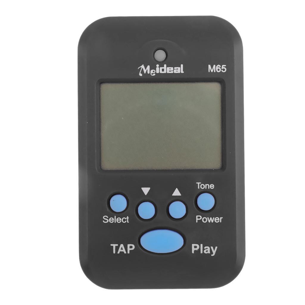 Compact Multi-functional Mini M65 Digital USB LCD Beat Tempo Metronome Black