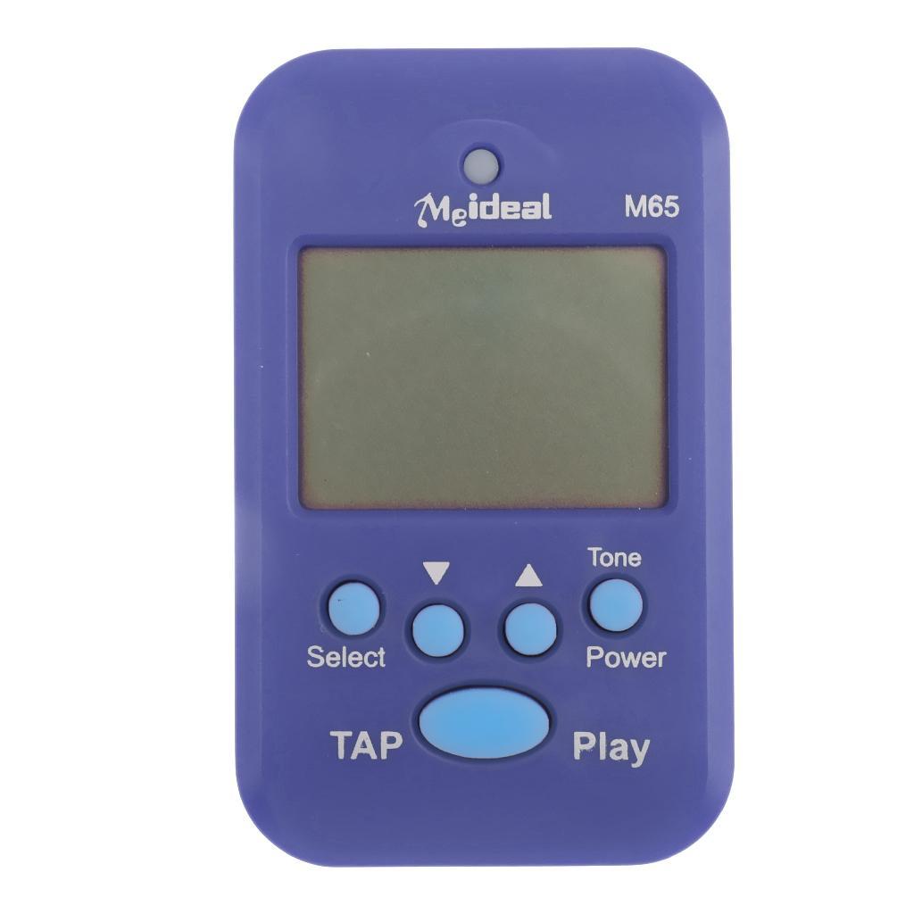 Portable Multi-functional Mini M65 Digital USB LCD Beat Tempo Metronome Blue