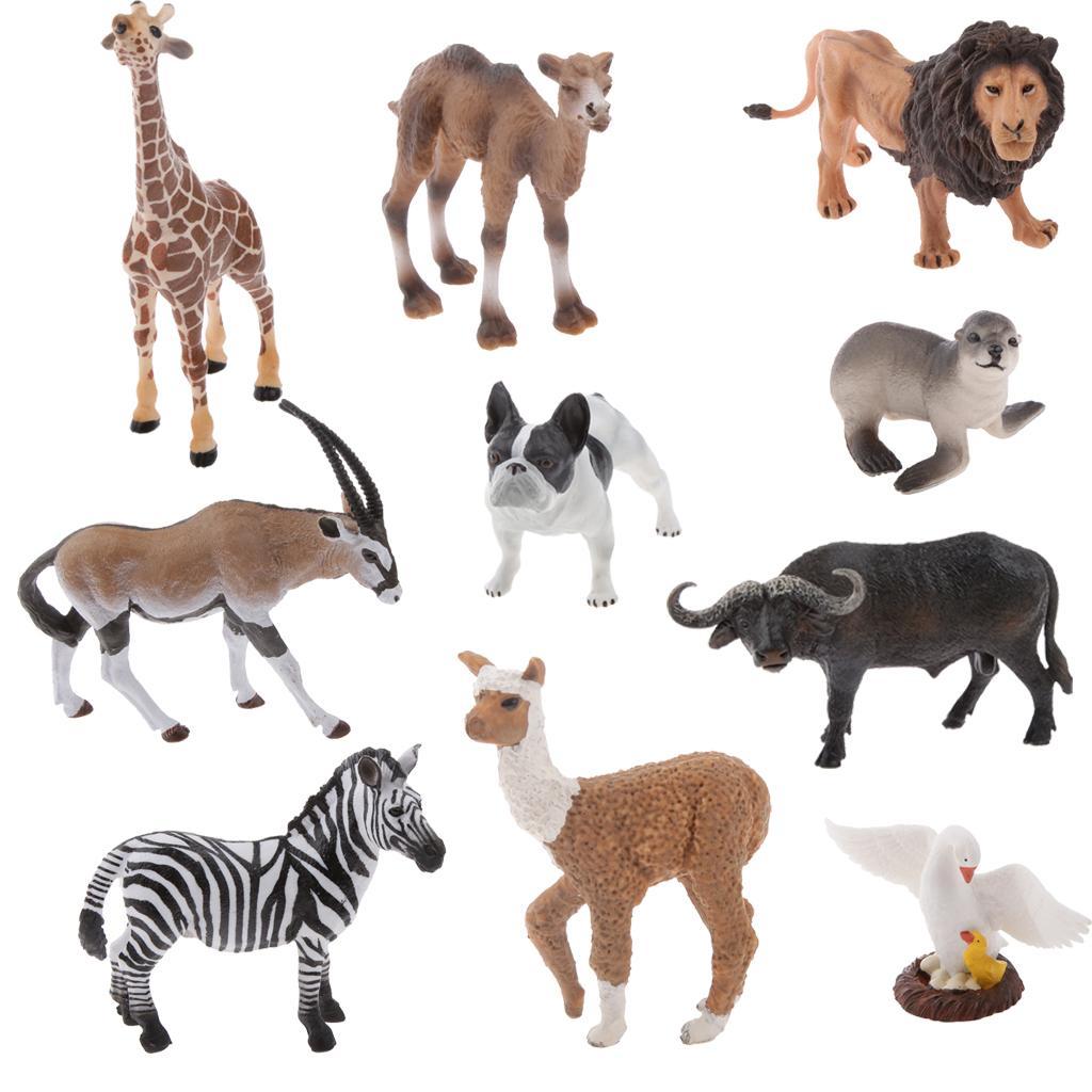 Realistic Zebra Wildlife Zoo Animal Model Figurine Figure