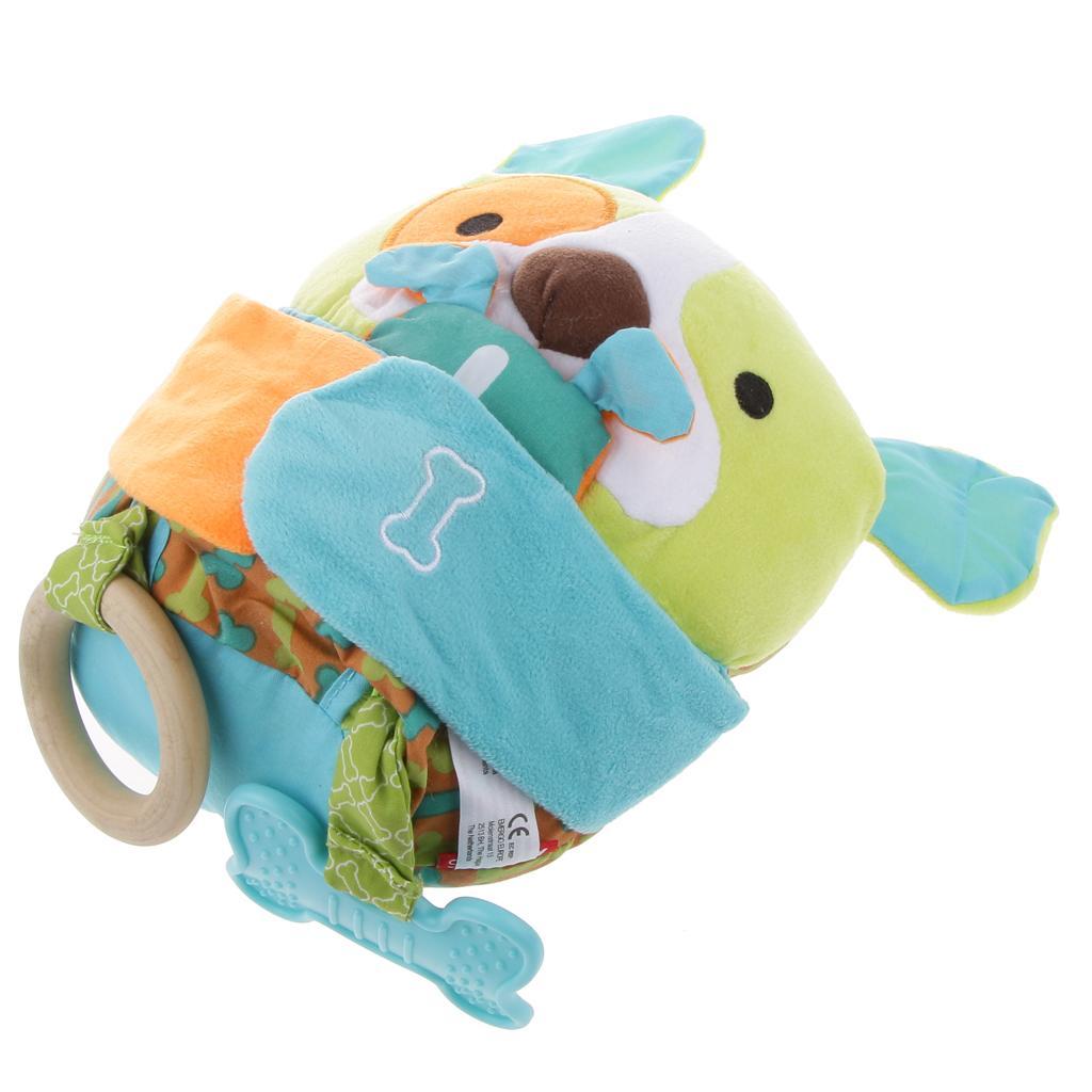Soft Dog Toys : Baby plush appease squeak soft dog kids children toy xmas
