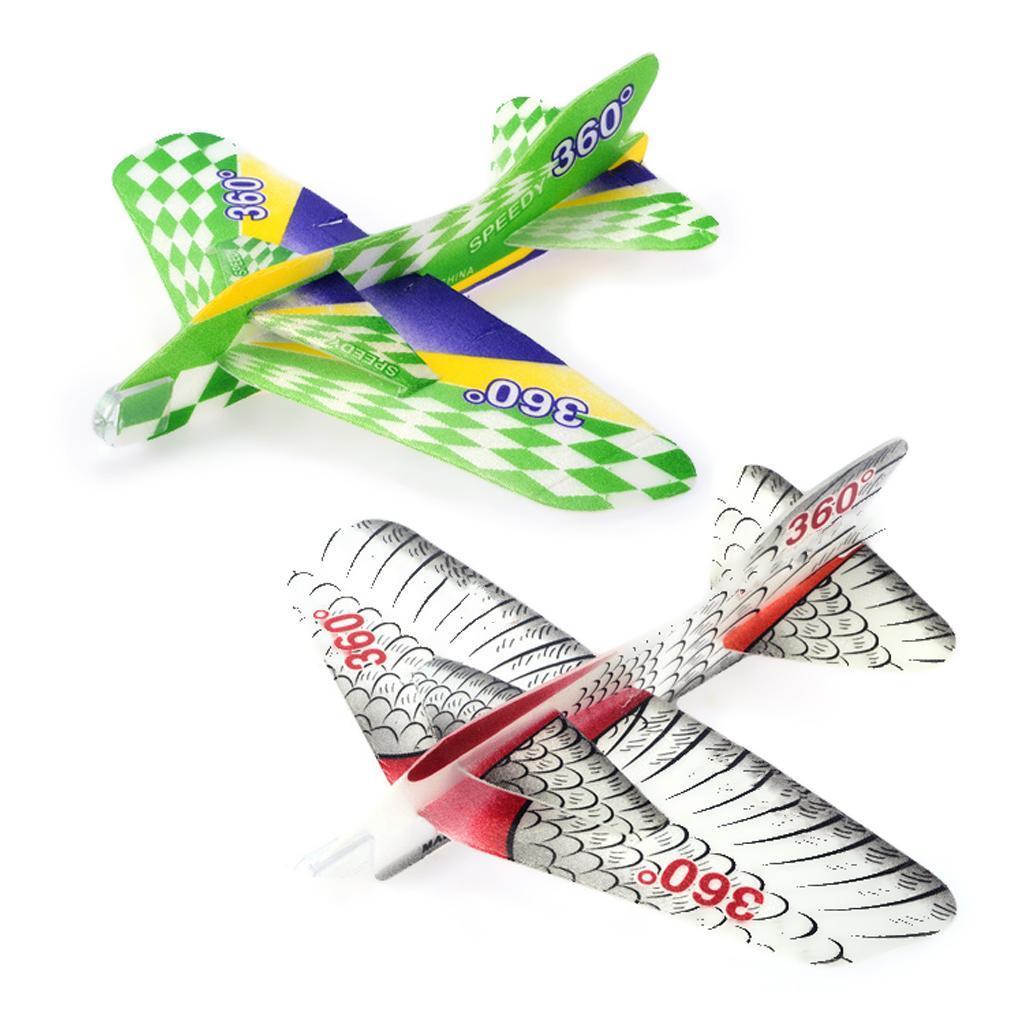 Hand Throwing 360 Degree Speedy Circle Flying Foam Airplane Kid Fun Toy Gift