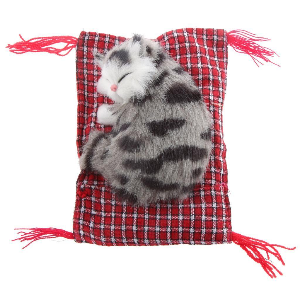 Lifelike Cloth Pad Cat Doll Plush Animal Toy Home Ornament Office Decor #2