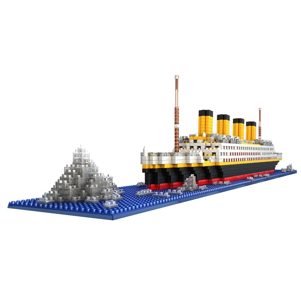 1860pcs Grand Titanic Building Blocks Kit Ship Model Assembly Block Kids Toy