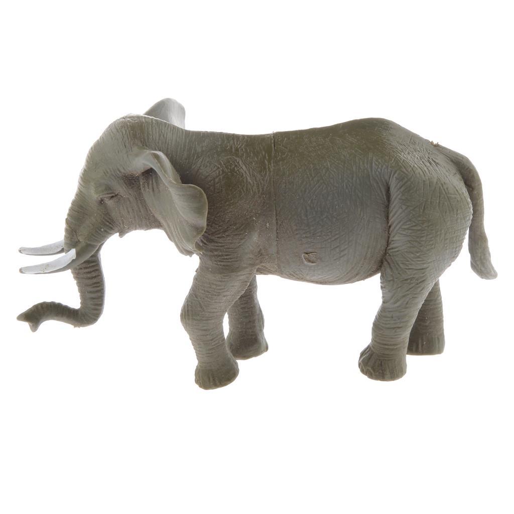 Plastic Vivid Mini Elephant Model Figure Toys Free Shipping