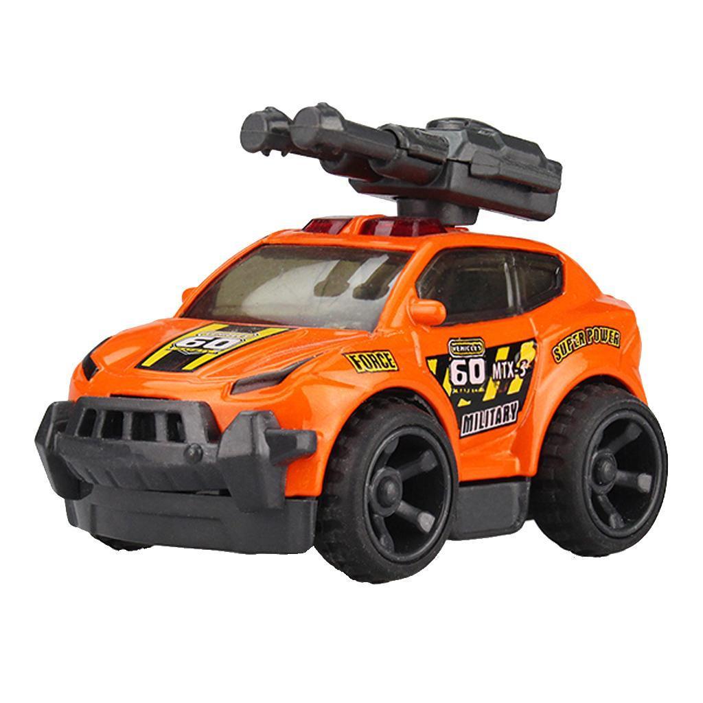 Children Cute Cartoon Alloy Missile Vehicle Model Diecast Toy Vehicle-Orange