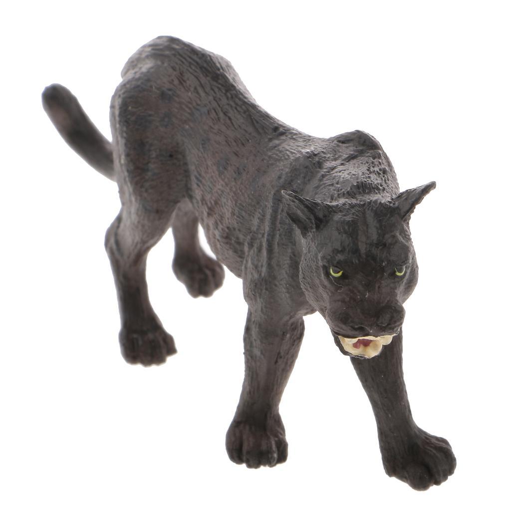 Realistic Black Panther Wildlife Animal Figurine Model Figure Kids Toy Gift