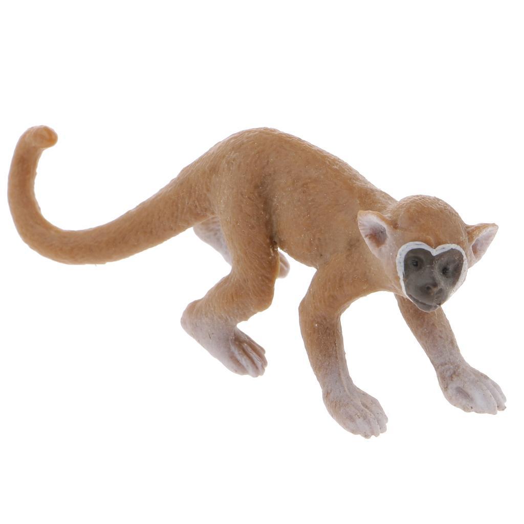 Realistic Squirrel Monkey Wild Animal Figurine Model Action Figure Kids Toy