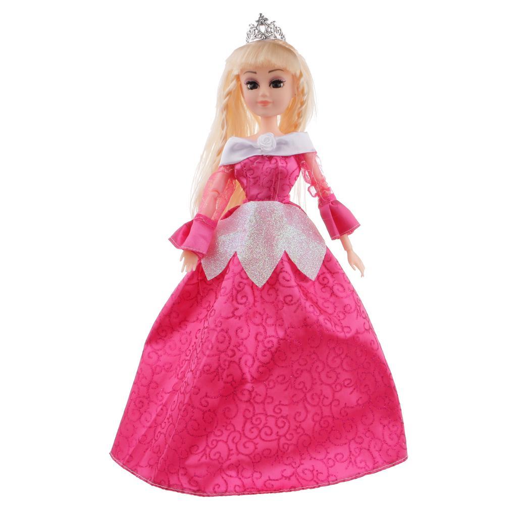 Princess Doll in Fairy Tale Figures Toy Playset Girl Birthday Gift Fuchsia