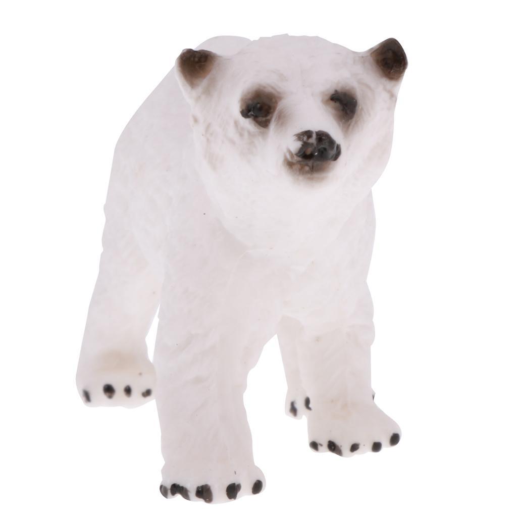 Realistic PVC Animal Polar Bear Model Figurine Action Figures Kids Toys