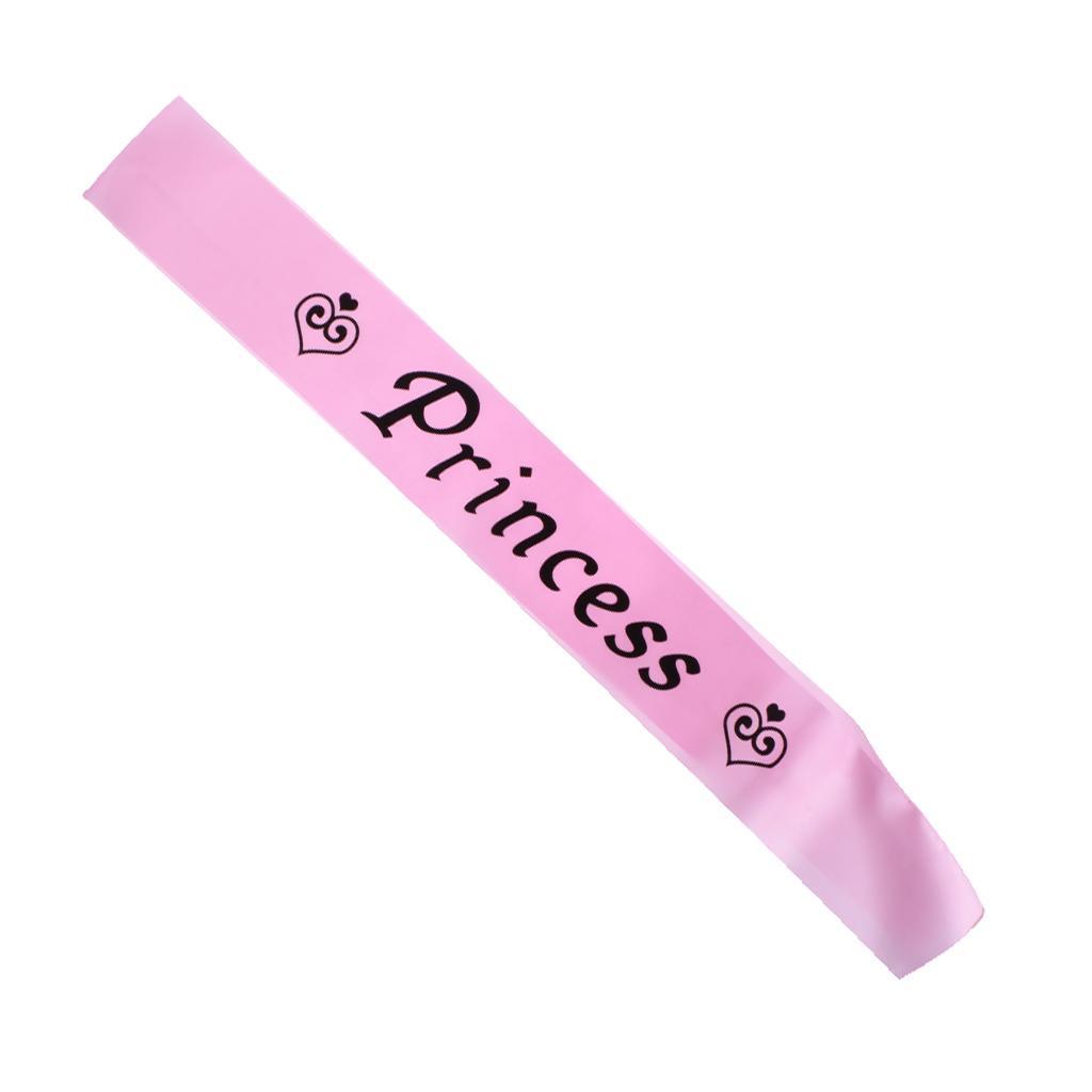Princess Satin Sash Pink