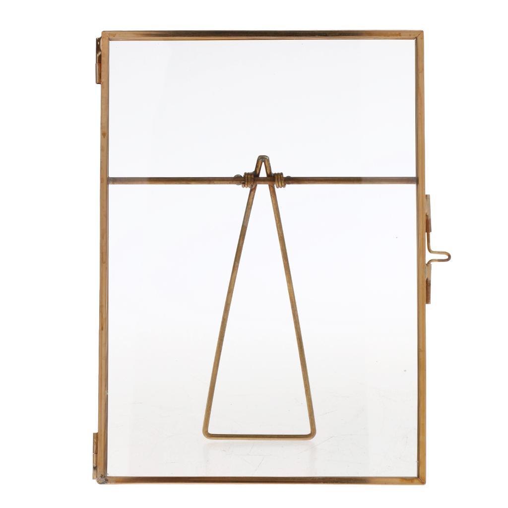 Metal & Glass Freestanding Photo Picture Frame Portrait Holder 14 x 16 cm