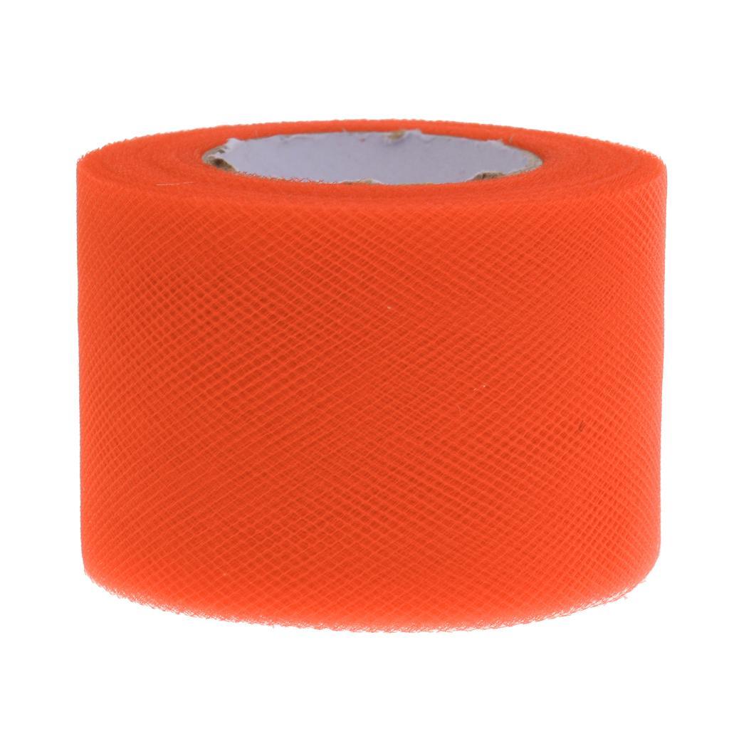 Tutu Tulle Fabric Spool Rolls DIY Craft Sewing Wedding Dress Decor Orange