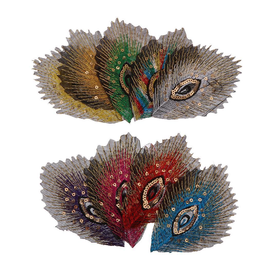Mixed Color 9pcs Retro Embroidery Iron-On Applique Patch Clothes Applique