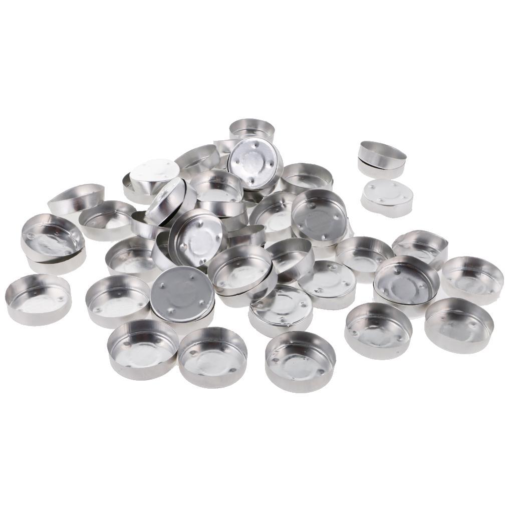 100pcs Aluminum Tea Light Empty Case Tins Containers Candle Making 1#