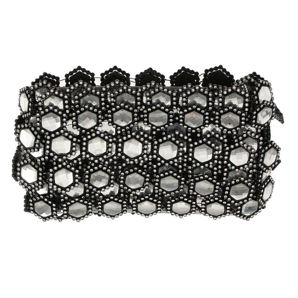 10 Yards Diamond Rhinestone Trim Chain Strand Bridal Dress Applique black