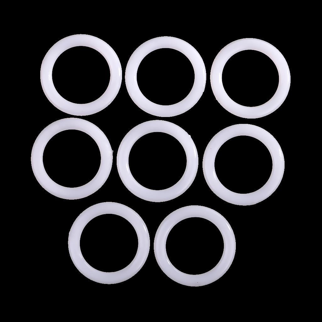 Plastic DIY Crochet Ring Circle Hook Tool for Handbag Car Seat 38mm 8pcs