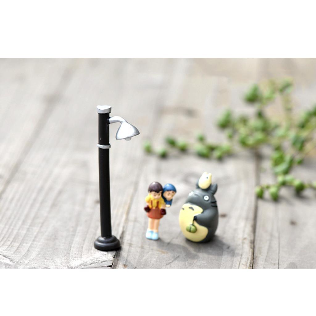 Micro Landscape Mini Resin Bonsai Fairy Garden Decor 9.5cm Street Light