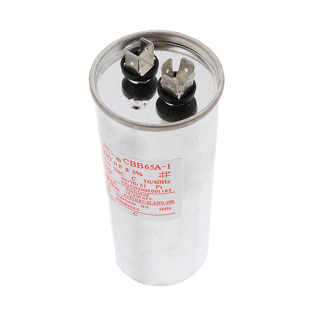 CBB65 AC 450V 50/60HZ Start Motor Capacitor Air Conditioner Compressor 100VF