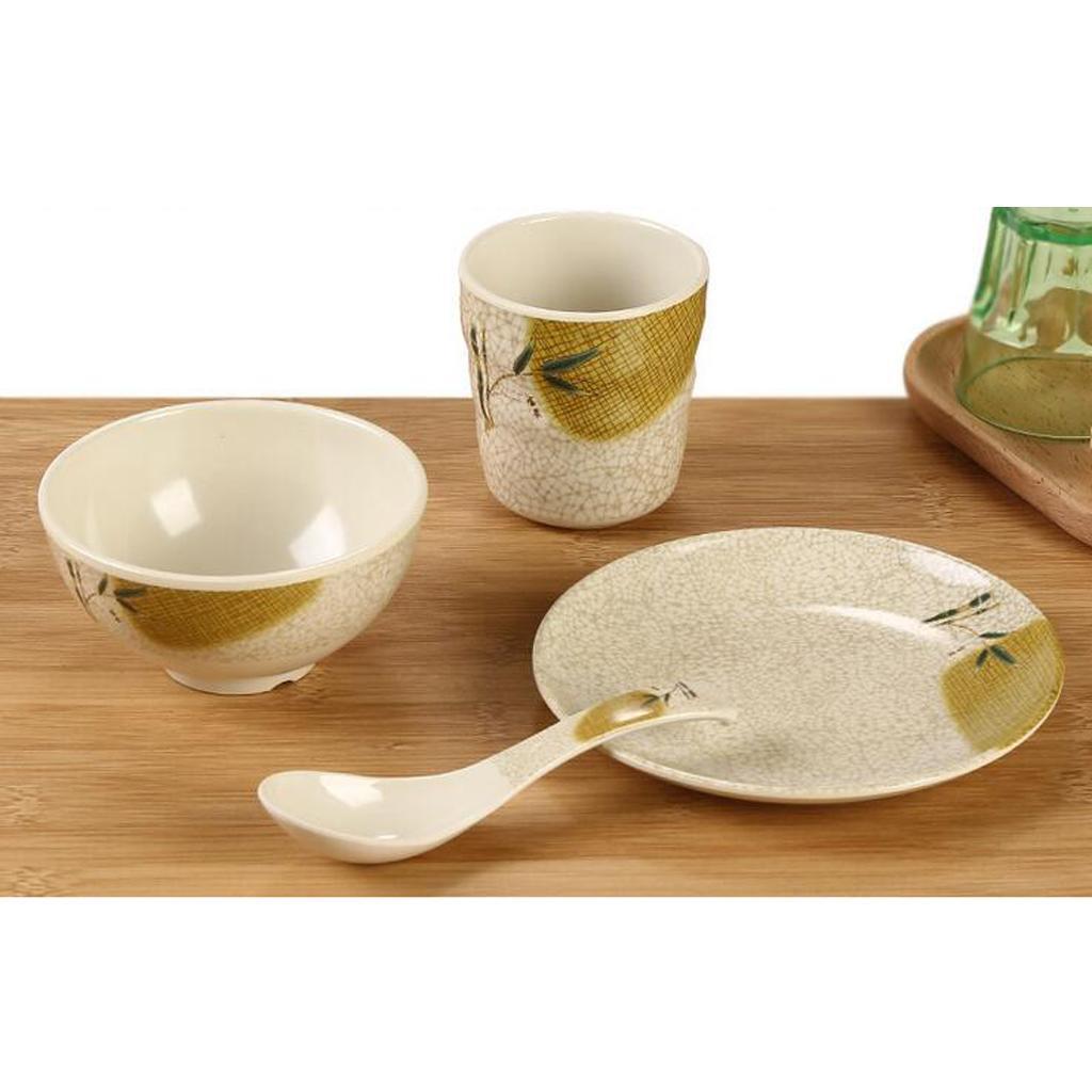 Dinnerware Set Kitchen Bowls Cups Dishes Service Dinner Plates Ki...